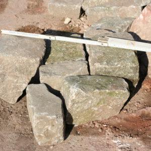 Unregelmäßiges Granitpflaster