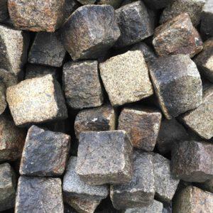 Granitpflaster 14-17cm, gebraucht, gelb