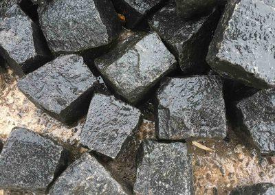 Granit 8-11cm, gebraucht, schwarz