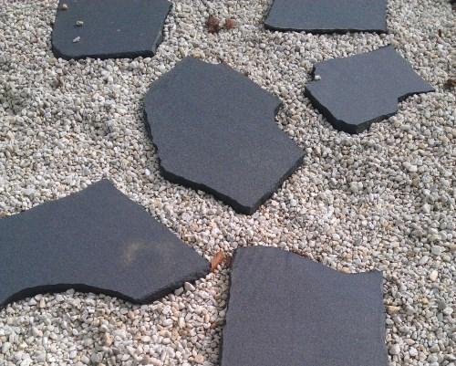 "Indischer, dunkler Granit, Farbe ""Tamil Nadu Black"""