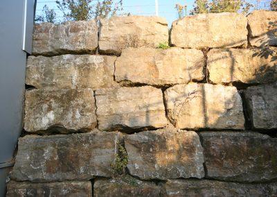 Muschelkalk Quader für Mauer oder Hangbesfestigung