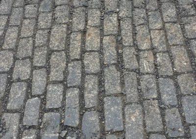 Kleinpflaster, Reihenpflaster Basalt, gebraucht