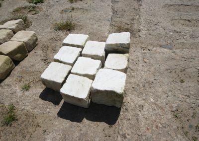 Marmorpflaster 9-11, weiß, gebraucht